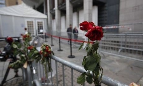 Rose outside Breivik courtroom
