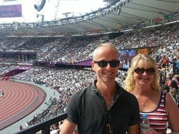 Me & my sister at the Olympic Stadium