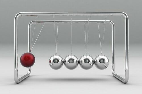 3D Newtons Cradle
