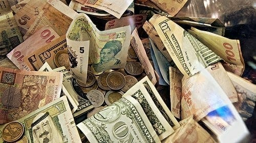 Forex Money for Exchange in Currency Bank
